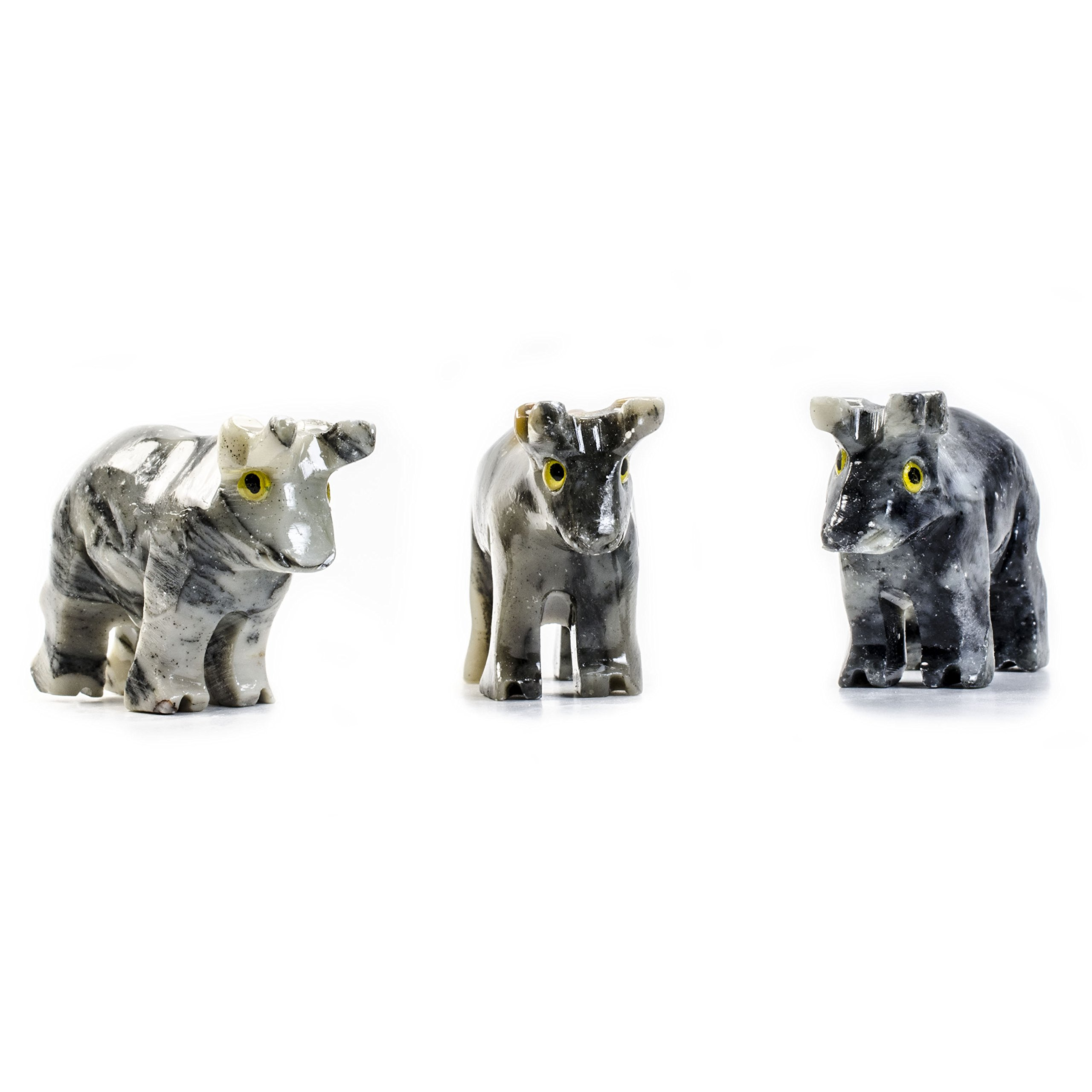 Digging Dolls : 10 pcs Artisan Bull Collectable Animal Figurine - Party Favors, Stocking Stuffers, Gifts, Collecting and More!