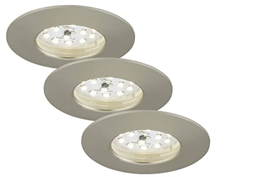 briloner leuchten 7204-032 led einbauleuchte, einbaustrahler, led ... - Led-lampen Fürs Badezimmer