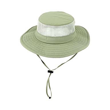 8bf05a43 Light Olive Foldable Boonie Fishing UV Sun Hat w/ Vented Mesh, Outdoor Cap,