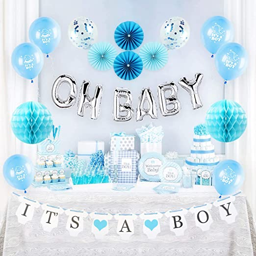 ITS  A  BOY~~-MYLAR -BALLOON~~~BABY SHOWER~~Party Decorations~~SHIPS WORLDWIDE