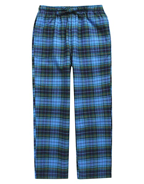 5b4c8a7ea74 TINFL Big Boys Soft 100% Cotton Flannel Winter Lounge Pants BLP-SB034 Blue L