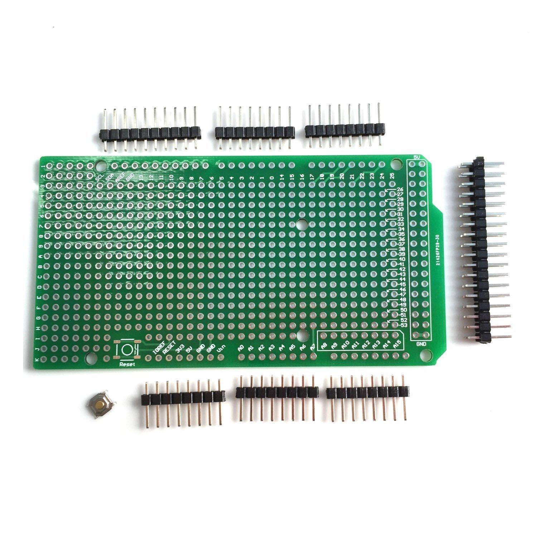 ARCELI Prototype PCB for Arduino MEGA 2560 R3 Shield Board DIY QC