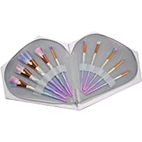 Luxury unicorn 10pcs makeup brush with diamond shape cosmetic bag