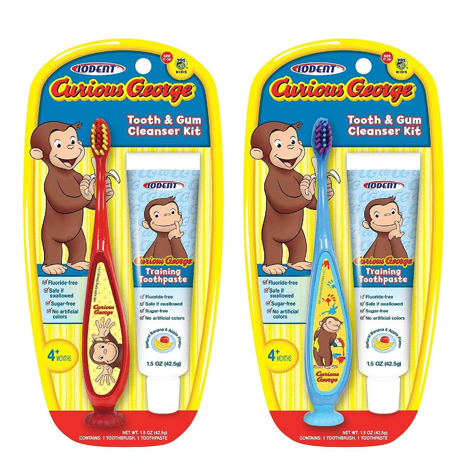 Curious George Cleanser Set Toothbrush & Toothpaste for Baby, Kids, Children, Girls, and Boys. Starter and Training kit…