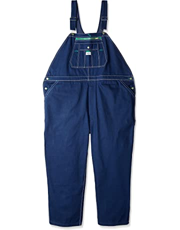 665d47e41d4c Liberty Walls Mens Work Rigid Denim Zip Fly Bib Overalls 36x30