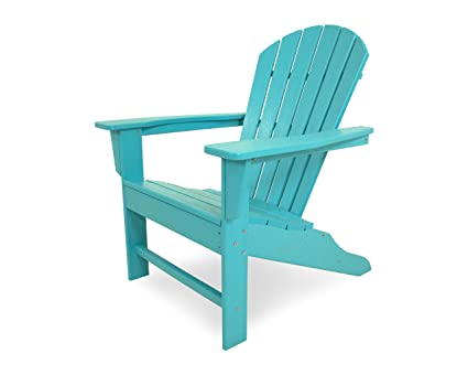 POLYWOOD Outdoor Furniture South Beach Adirondack Chair, Aruba-Recycled  Plastic Materials - Amazon.com : POLYWOOD Outdoor Furniture South Beach Adirondack Chair