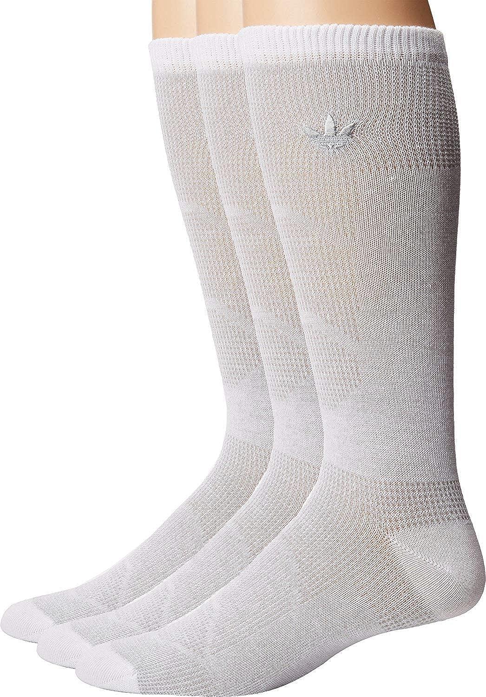 807218fe37745e adidas Originals Men s Originals Prime Mesh II Crew Sock 3-Pack White Clear  Onix 10-13 at Amazon Men s Clothing store