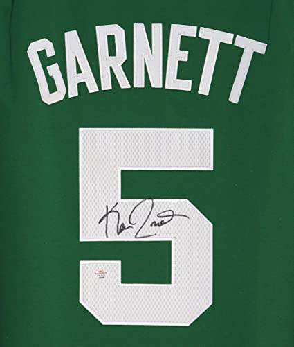 detailed look aafc8 991a1 Kevin Garnett Boston Celtics Signed Autographed Green #5 ...