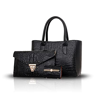 bab31ec8ec4b Sdinaz new women bag fashion crocodile pattern 3 sets of female ...