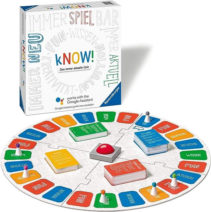 Ravensburger Know! Juego Educativo - Juego de Tablero (Juego Educativo, 10 año(s), 220 Pieza(s), 1 Pieza(s), 6 Pieza(s)): Amazon.es: Juguetes y juegos
