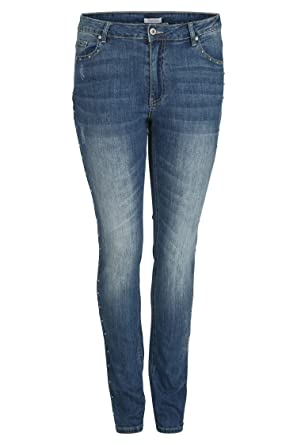 0663517baa97 PAPRIKA Damen große Größen Slim-Fit-Jeans mit Nieten-Details Jeans 0 (