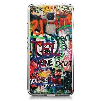 CASEiLIKE® Funda BQ V Plus, Carcasa BQ Aquaris V Plus, Graffiti 2721, TPU Gel Silicone Protectora Cover