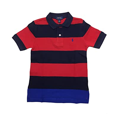 62cbcc2385bc4 Amazon.com  RALPH LAUREN Polo Boy s Wide Striped Polo Collar Shirt ...