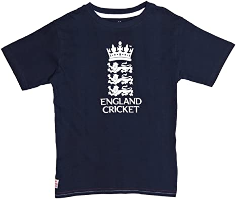 England Cricket ECB Kids Classic 1877 T-Shirt Grey Official Product