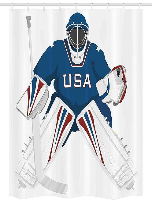 Amazon Com Ambesonne Sports Decor Stall Shower Curtain Team Usa