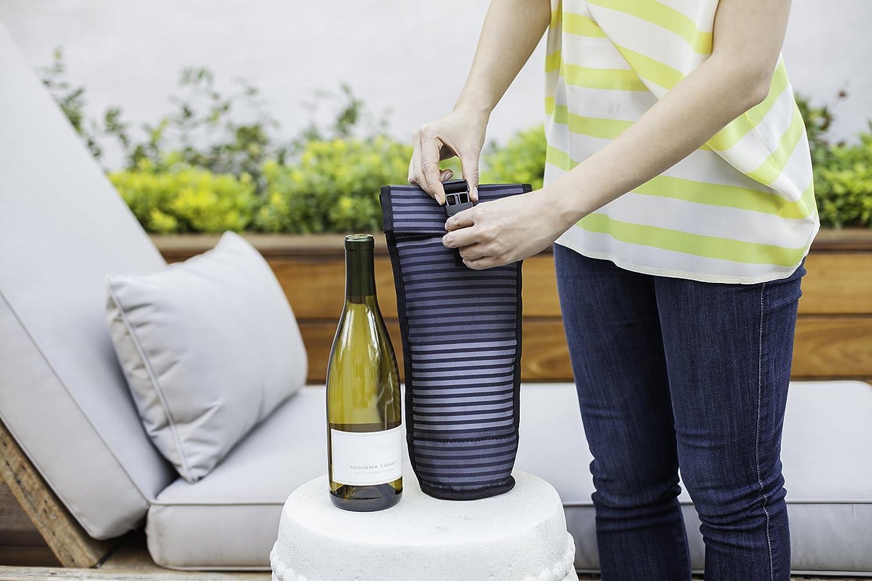 PACKIT K/ühltasche Einfrierbar wine bag Lunch 1 Liter 12.7 x 14 x 34.3 cm Gray stripe