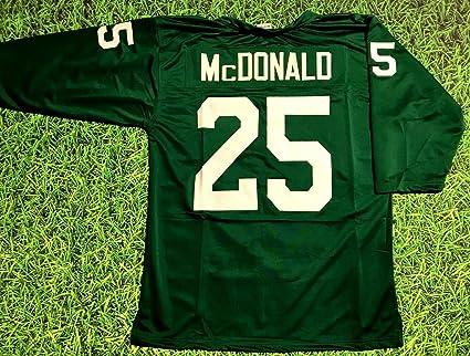 Amazon.com: TOMMY MCDONALD GREEN PHILADELPHIA 3/4 SLEEVE THROWBACK ...
