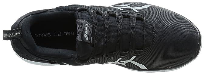 ASICS - Chaussure Chaussure de B sport (M Sana 2 Fitness pour femme, noir/ blanc/ argent 5 B (M fa27fc6 - www.wartrol.website