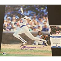 $29 » Andre Dawson Chicago Cubs Autographed Signed 11x14 HOF 2010 BECKETT COA