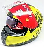 LS2 Helmets - FF320 – Stream – Garage Matt Yellow Black Dual Visor Full Face Motorcycle Helmet (Size: L – 58 cm)
