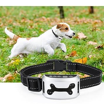 Aidodo Collar Antiladridos Recargable Anti Ladridos para Perros Collar Adiestramiento Sin Descarga Eléctrica Collar Automático Utiliza Sonidos y Vibraciones ...
