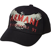 Armani Exchange Eagle A|X 1991 Cap, Black