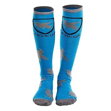 calcetines hasta la rodilla de Harry Potter Ravenclaw Cuervo Cresta 39-42 azul-gris