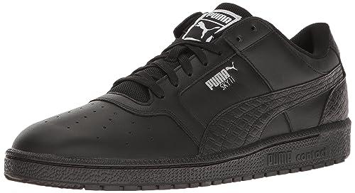 scarpe uomo puma basket nero