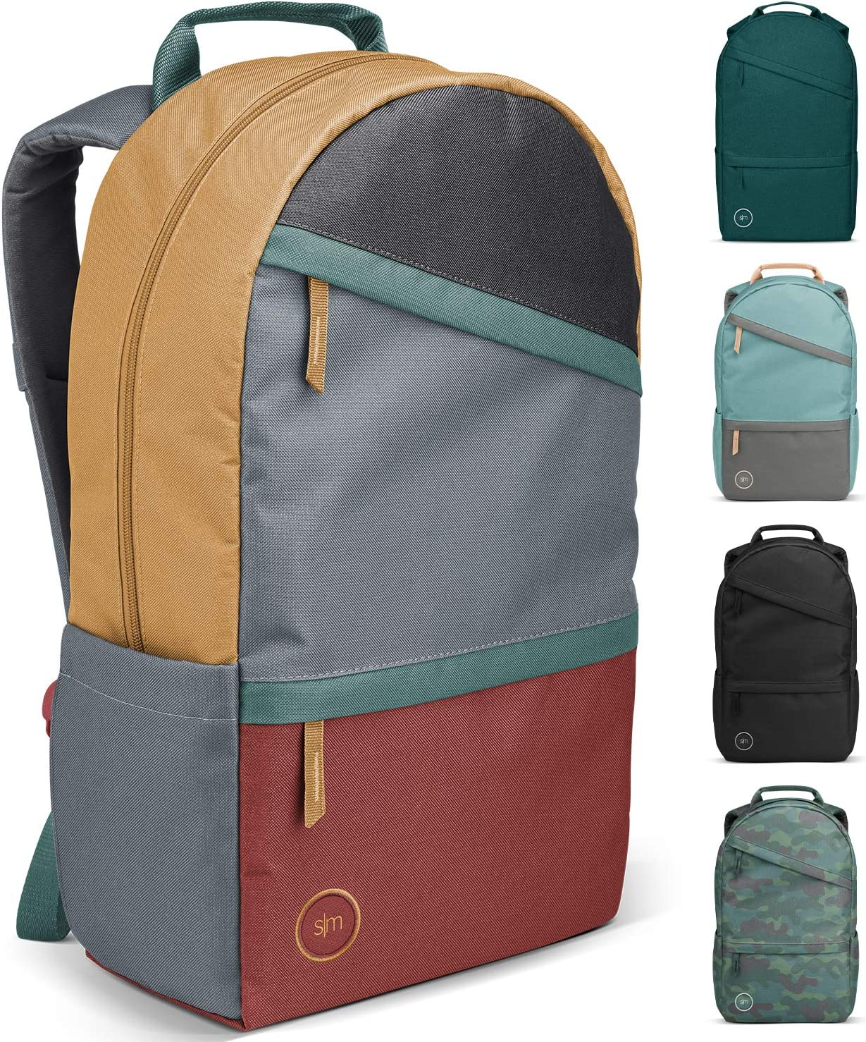 Simple Modern Legacy Backpack with Laptop Compartment, Soho Retreat (Color Blocked), 25 Liter