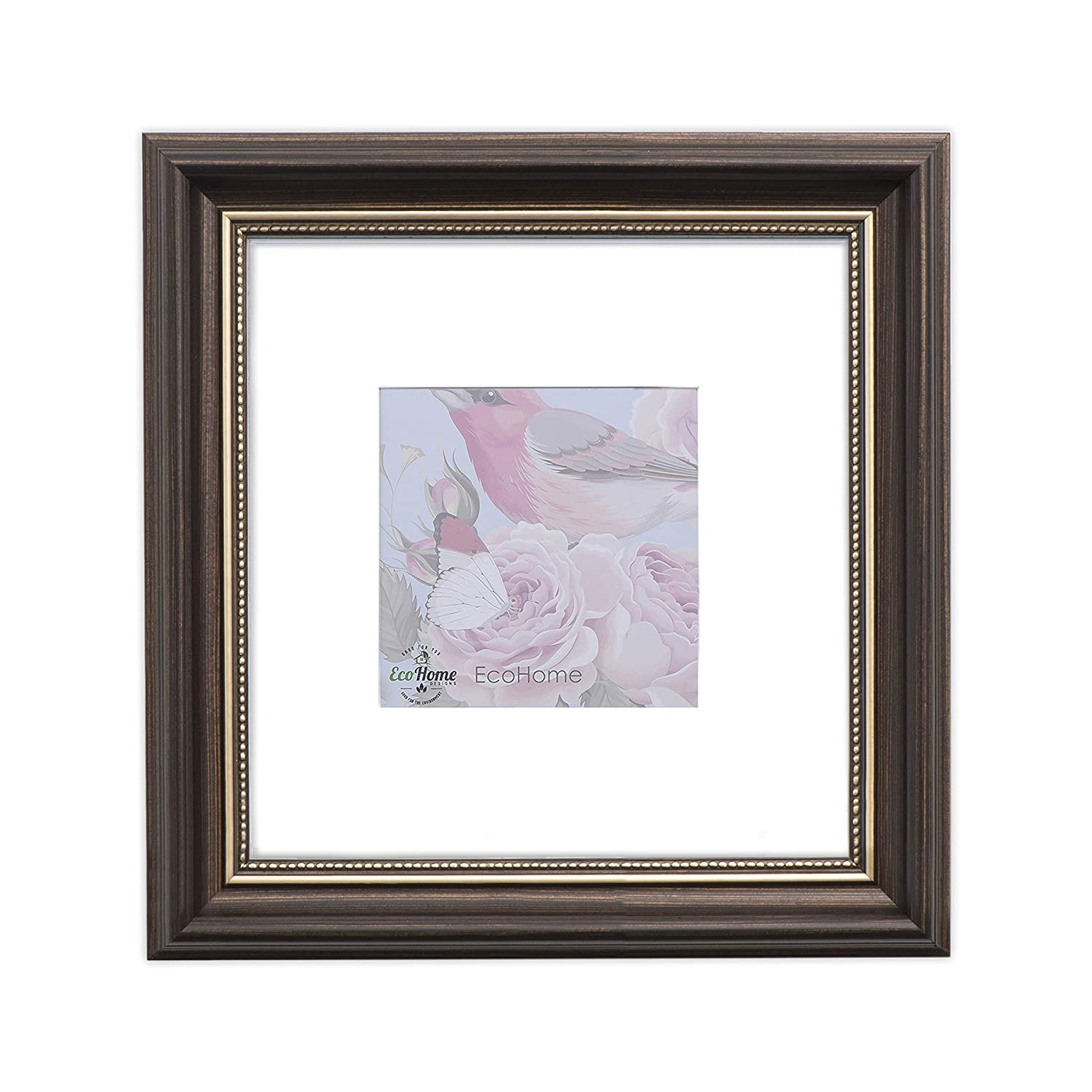 Amazoncom 8x8 Picture Frame Brown Or 4x4 With Mat Frames By