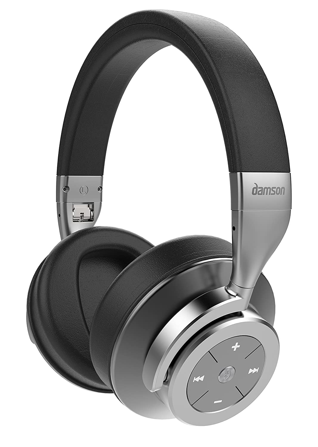 Damson HeadSpace - Wireless Bluetooth Noise Cancelling Over the Ears Headphones - Includes Micro-USB Charging Cable, 3.5mm Auxiliary Cable, and Case