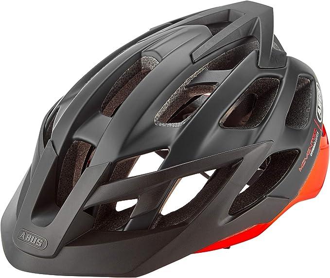 Abus Moventor - Casco de Bicicleta - Naranja/Negro Contorno de la ...