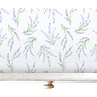 Lavender Luxury Drawer and Shelf Liners, 5 Scented Rolled