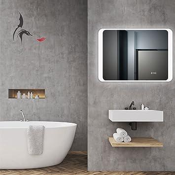 TOP AKTION NEUJAHR! LED Badezimmer Spiegel mit integrierter Digital ...