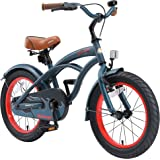 BIKESTAR Safety Sport Kids Bike Bicycle with sidestand and Accessories for Age 4 Year Old Children | 16 Inch Cruiser…