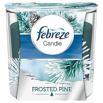 Febreze - Vela aromática de pino esmerilado para eliminar olores, 100 g, 4 unidades: Amazon.es: Salud y cuidado personal