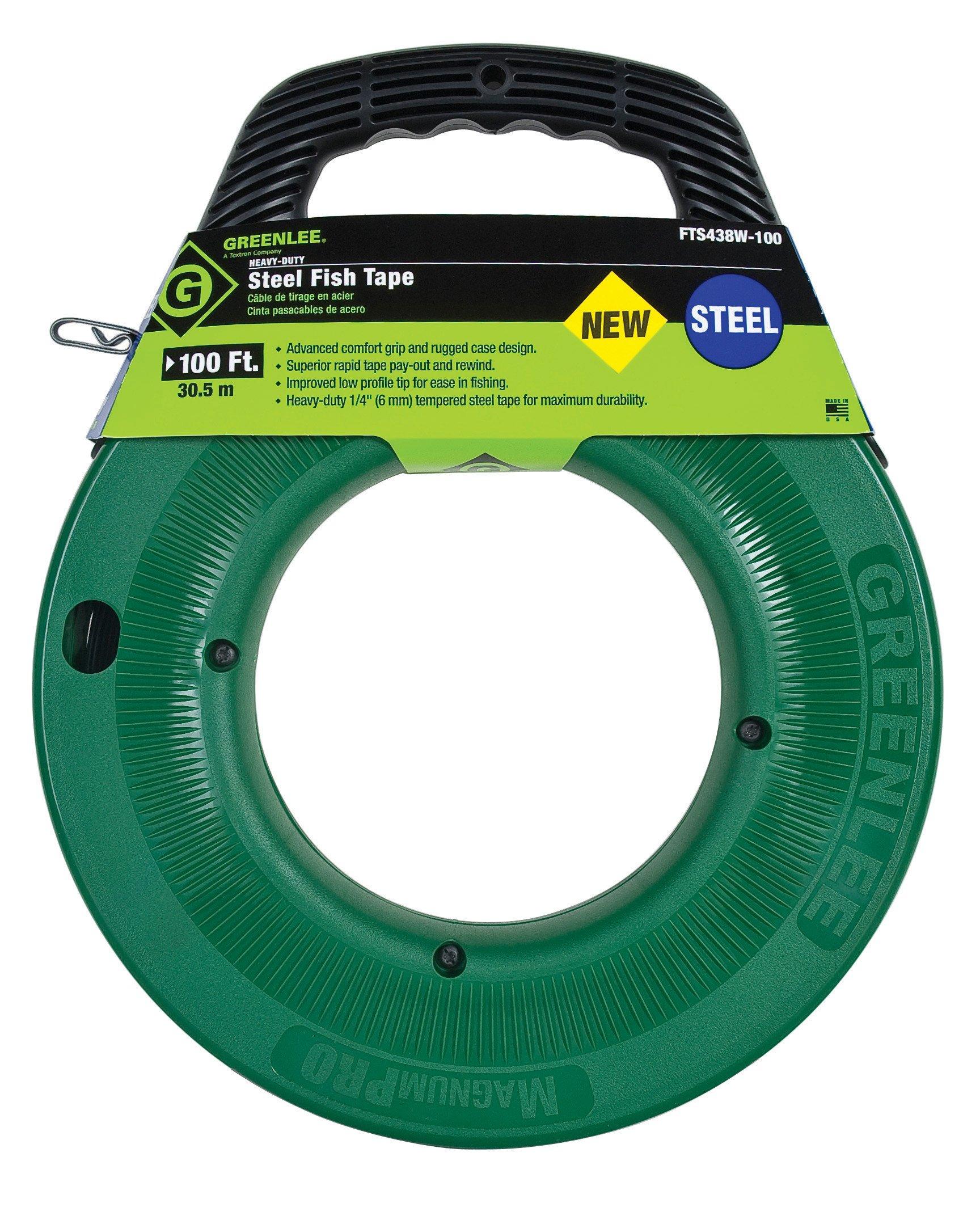Greenlee FTS438W-100 100-Feet x 1/4-Inch Steel Fish Tape