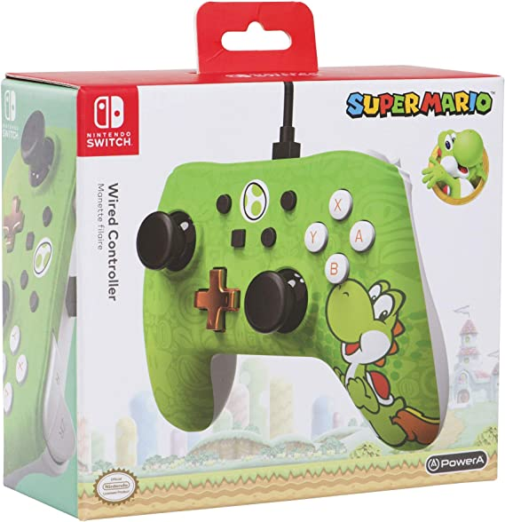 Mando con cable PowerA para Nintendo Switch Yoshi: Amazon.es ...