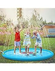 "Jasonwell Sprinkle & Splash Play Mat 68"" Sprinkler for Kids Outdoor Water Toys Fun for Toddlers Boys Girls Children Outdoor Party Sprinkler Toy Splash Pad"