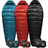 OuOutdoor Vitals Summit 20°-30°F Down Sleeping Bag, 800 Fill Power, 3 Season, Mummy, Ultralight, Camping, Hiking