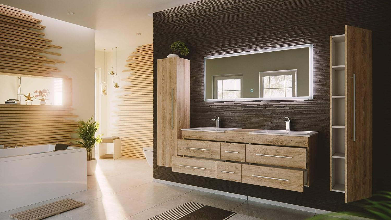 Set de mueble de baño Roma XL 4 partes con Roble claro