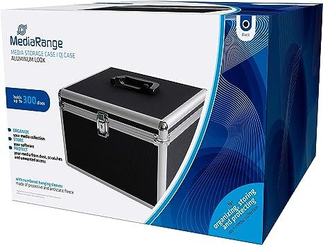 MediaRange BOX72 Funda para Discos ópticos Maleta rígida 300 Discos Negro - Fundas para Discos ópticos (Maleta rígida, 300 Discos, Negro, Vellón, De plástico, Madera, 120 mm, Aluminio): Amazon.es: Informática