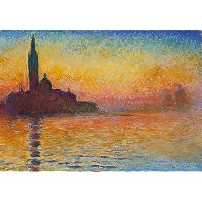 Grafika Puzzle 1000 pièces - Claude Monet : Saint-Georges-Majeur au Crépuscule, 1908