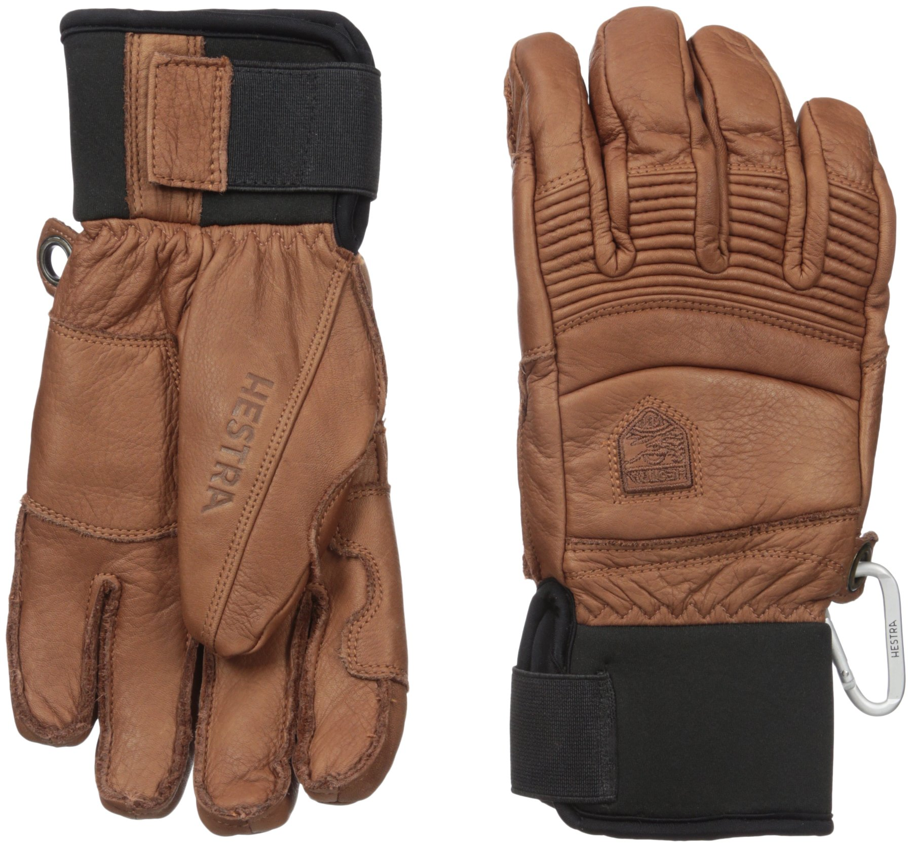 Hestra Fall Line Leather Short Ski, Ride and Park Glove,Brown,9 by Hestra