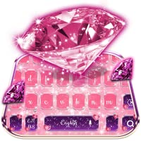 Pink Crystal Diamond Keyboard Theme