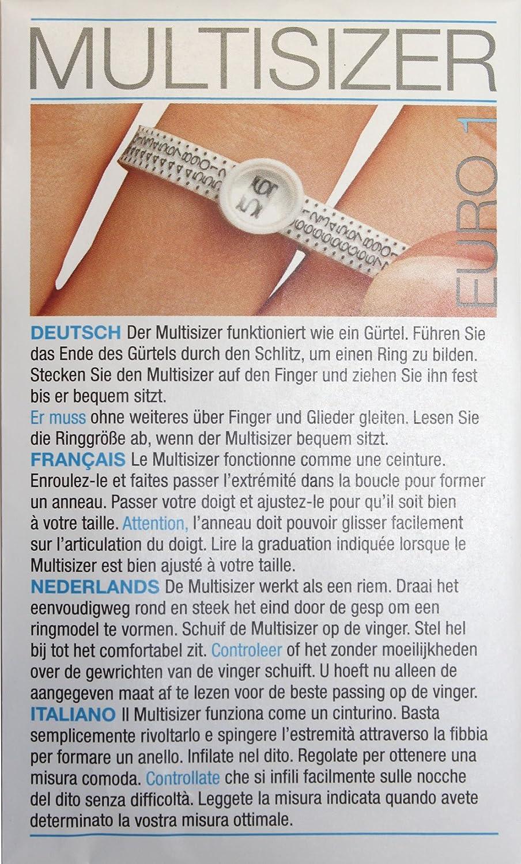 Nouvelle L'europe doigt sizer dimensionnement jauge Anneau de mariage/Bague de fiançailles sizer+ INTERNATIONAL TABLEAU Precious Jewels UK EURRZFR