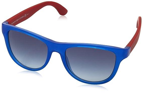 Tommy Hilfiger Unisex-Kinder Sonnenbrille TH 1341/S 08 H9Q, Blau (Blu Red/Blue), 48