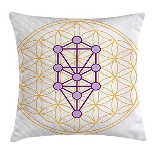 Ericcay Funda De Cojín Sagrado Geometrty Deco para Lotus con ...