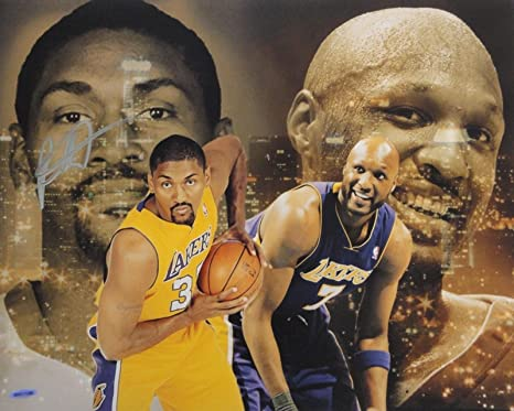 939687c6c93 Image Unavailable. Image not available for. Color: Ron Artest Metta World  Peace Signed Autograph 16x20 Photo Lakers ...