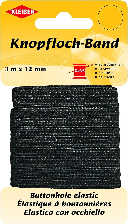 Negro /71092/Ojal de Banda//el/ástico Ojal de Banda 58/% poli/éster; 42/% l/átex Kleiber/ 300/x 1,2/x 0,05/cm